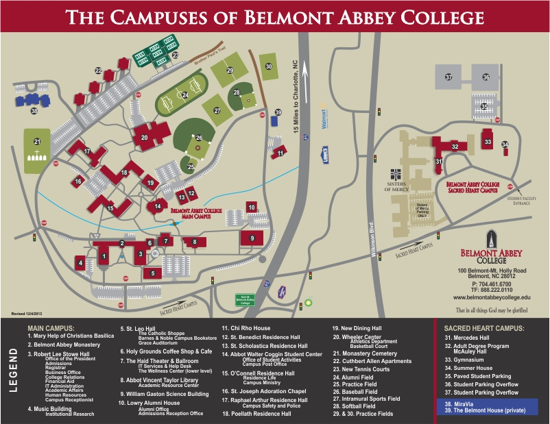 Campus Map as of Dec 4 2013 Belmont Campus Map and Driving Directions