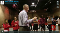 Dr Thierfelder works with Belmont Abbey athletes