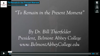 Dr Thierfelder delivers talk to professionals on remaining in God's present moment