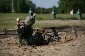 Grenade toss practice