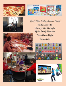 Fridays Before Finals @ Abbot Vincent Taylor Library