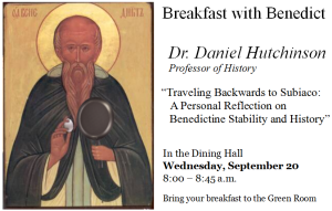 Breakfast with Benedict: Daniel Hutchinson @ Green Room in the Caf