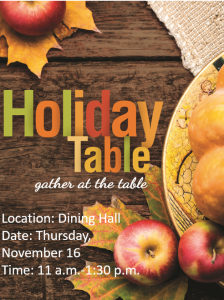 Holiday Table @ The Caf