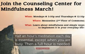 Counseling Center's Weekly Workshops - Mindful March @ The Mezz