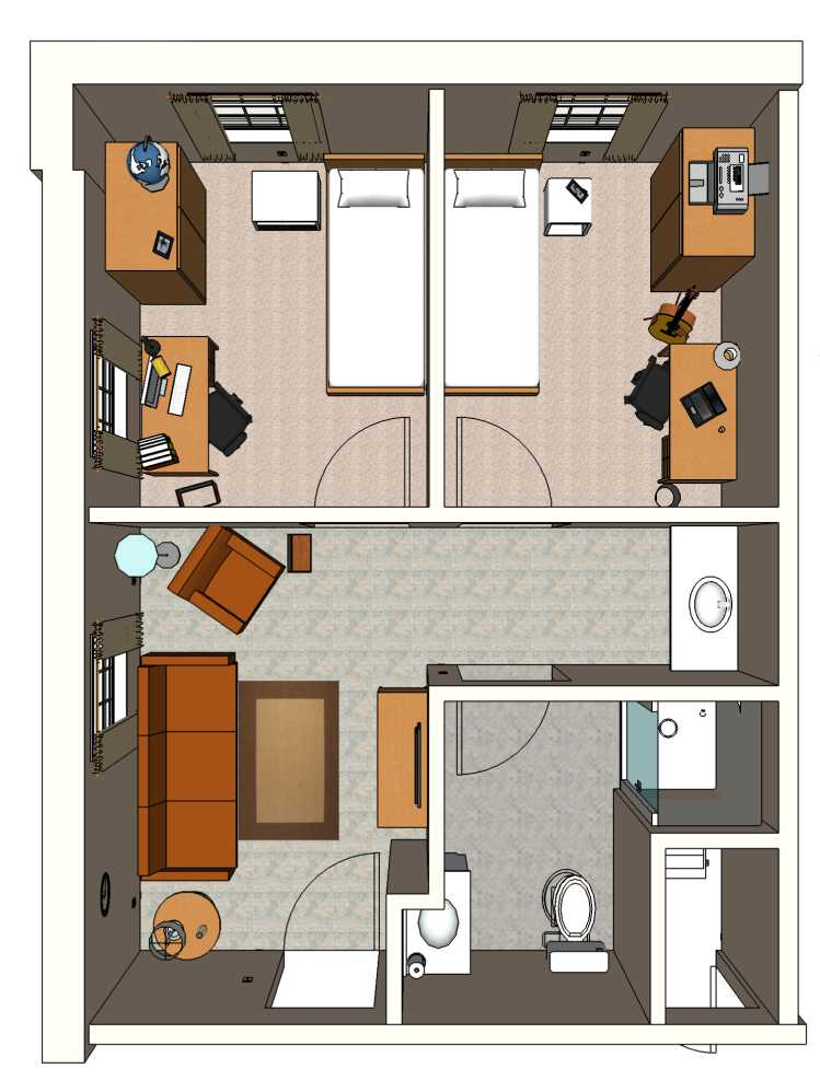 Dorm Room Layouts: Belmont Abbey College: Private